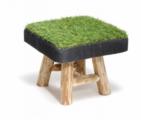Touch Of Spring Grass Stool Collection