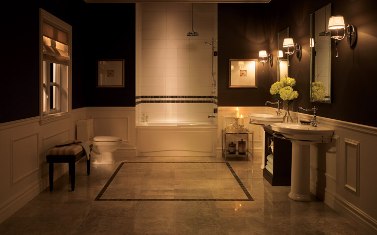 Classic Black And White Bathroom Designs : Traditional black and white bathrooms to inspire digsdigs