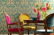 Traditional But Colorful Dining