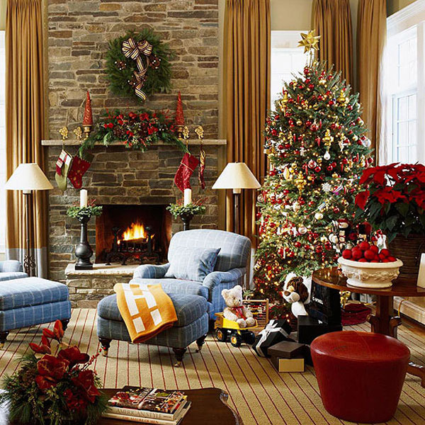 Holiday Decorating Stunning Of Christmas Living Room Decorating Ideas Images