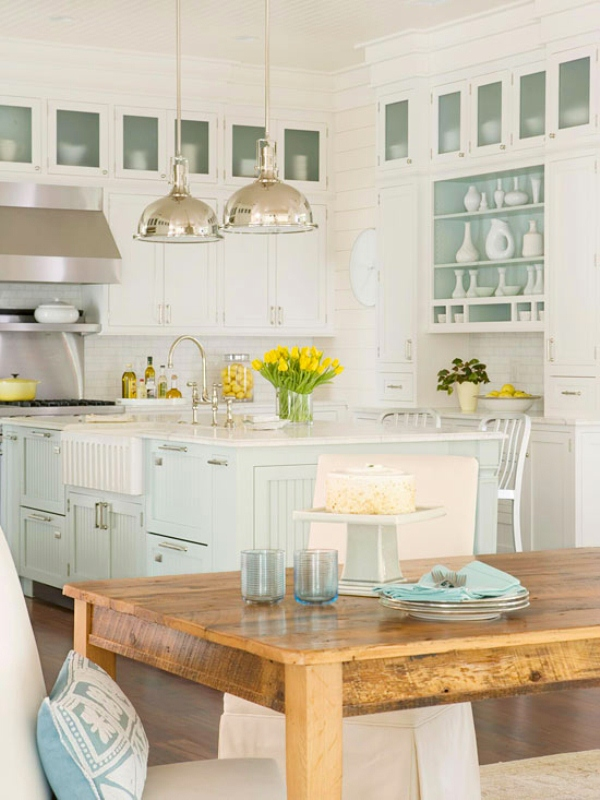 Traditional coastal style kitchen design inspiration for Inspired kitchen design