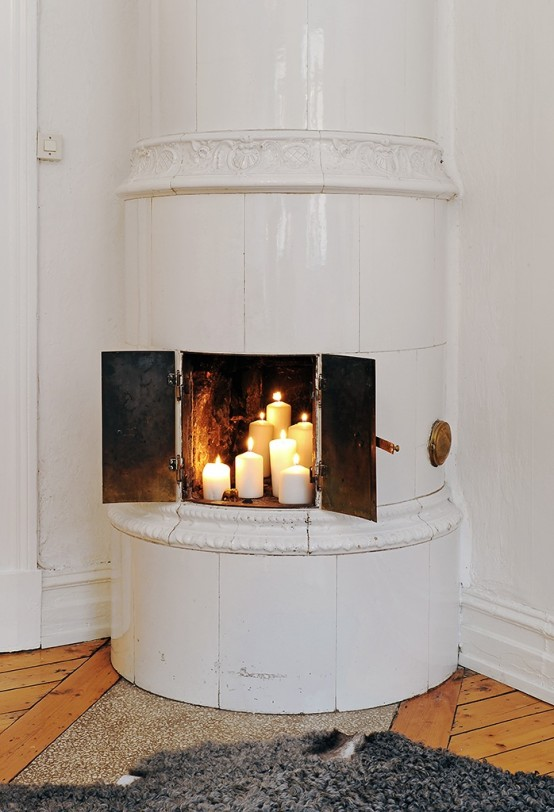 Traditional Tile Stoves In Home Decor Ideas