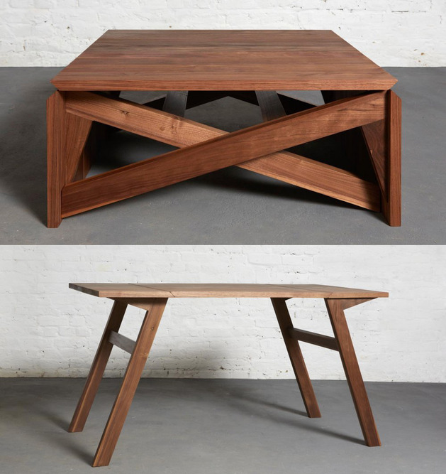 Transforming mk1 coffee and dining table digsdigs - Transformable coffee table ...