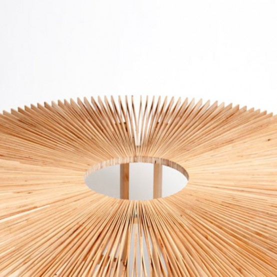 Transformable Fan Table Of Birch Wood