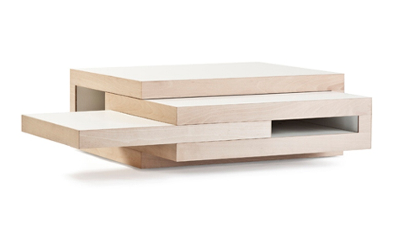 Transformable minimalist coffee table that grows if you - Transformable coffee table ...