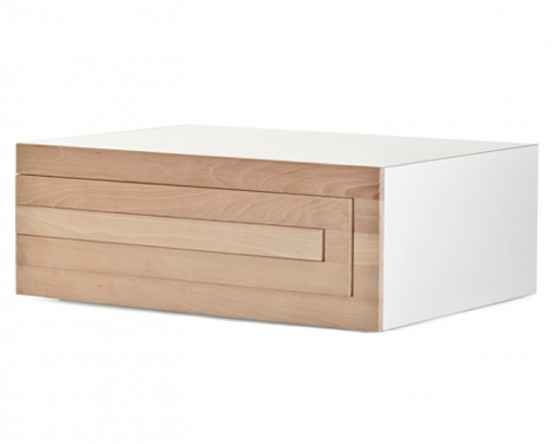 Transformable Minimalist Coffee Table That Grows If You Need