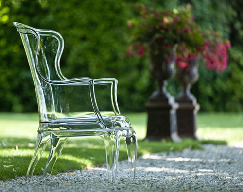 Elegant Transparent Armchair in Classic Form – Pasha by Pedrali