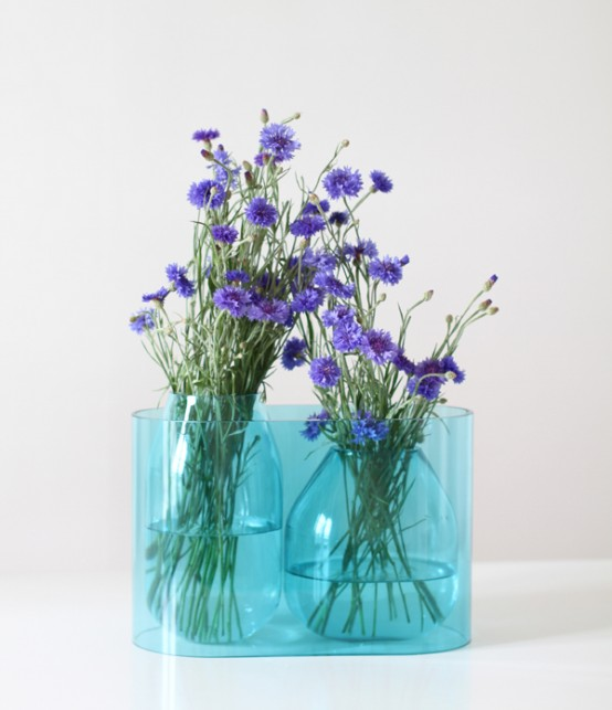 Transparent Blue Vase