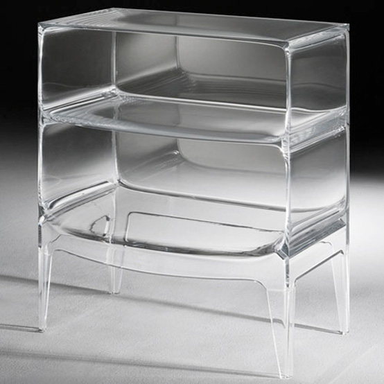 Transparent Commode