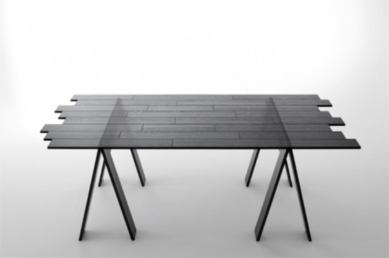 Transparent Wood Table Perfect For Modern Dining Areas