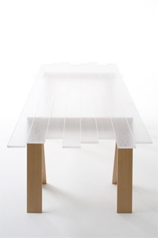 Transparent Wood Table
