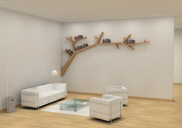 Stylish and Simple Tree Branch Bookshelf | DigsDigs