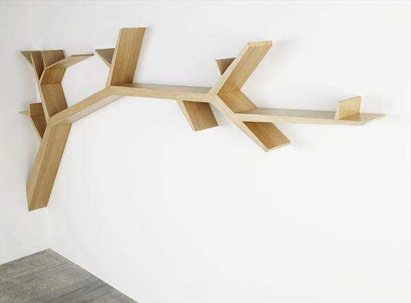 Stylish And Simple Tree Branch Bookshelf DigsDigs