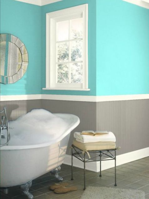 38 trendy ways to color block your home digsdigs for Bathroom finishes trends