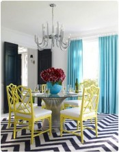 Trendy Colorful Dining Room