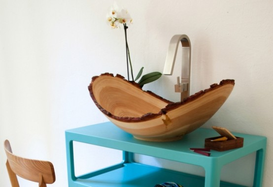 Trendy Larch Wood Ninna Washbasin