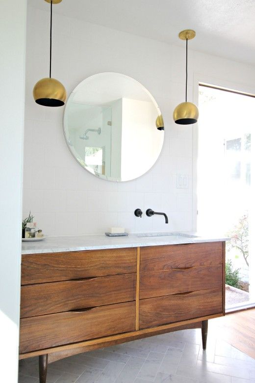 35 Trendy Mid Century Modern Bathrooms To Get Inspired