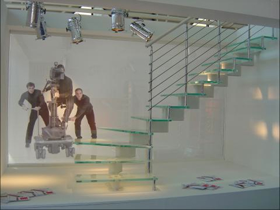 Triple Laminate Toughed Glass Staircase