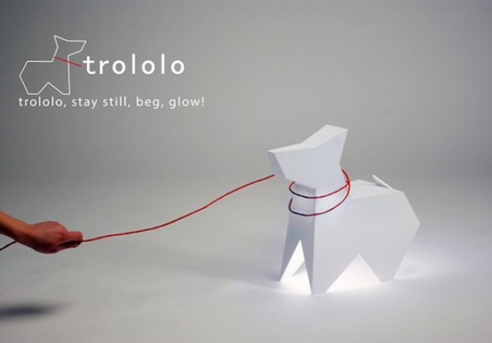 Trololo Dog Lamp Stay Still Beg Glow