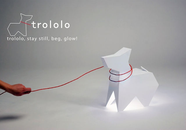 Trololo Dog Lamp: Stay Still, Beg, Glow!