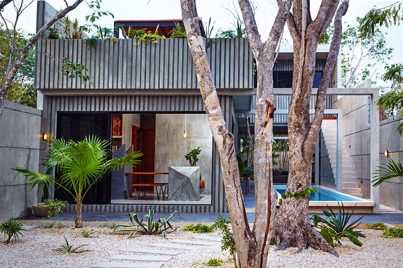 Tropical Casa T With Bold Earth, Wind And Fire Parts