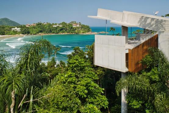 Floating Tropical House Design on a Steep Slope – Casa Em Ubatuba by SPBR