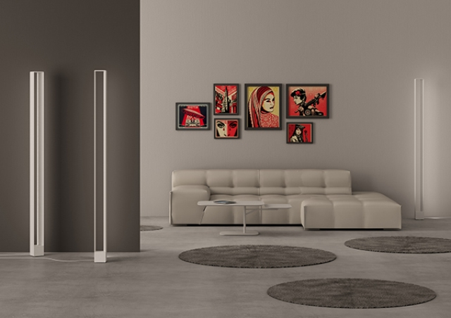 Tru Floor Lamp: Disappearing Light Object