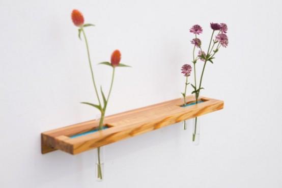 Tube Shelves And Flower Vases In One