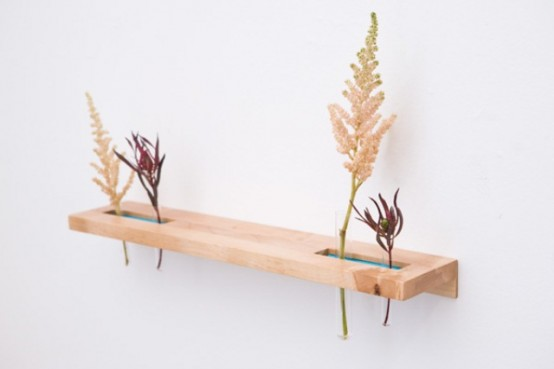 Tube Shelves And Flower Vases In One