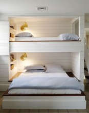 Shared Kids Room With A Built-in Bunk Bed