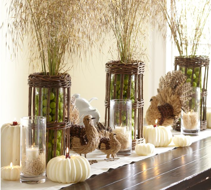 Cool turkey decorations for your thanksgiving table digsdigs for Cool dining table centerpieces