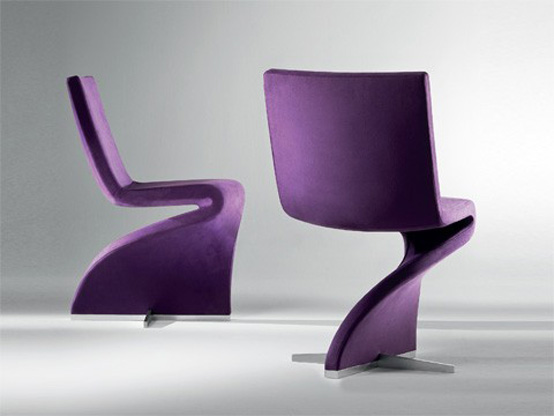 Innovative shaped chair with seductive look twist by for Contemporary seating