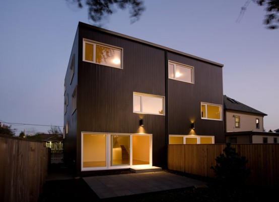 Two Attached Houses Smooth Cedar Skin