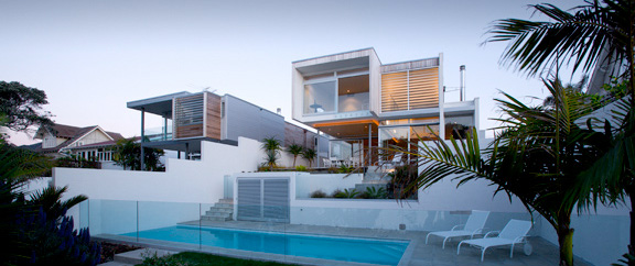 Two Houses on Adjacent Sites – Thorp Houses by Pete Bossley Architects