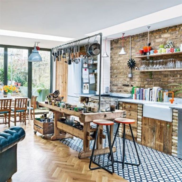 50 Bold And Inventive Dining Rooms With Brick Walls: Modern Home Designs
