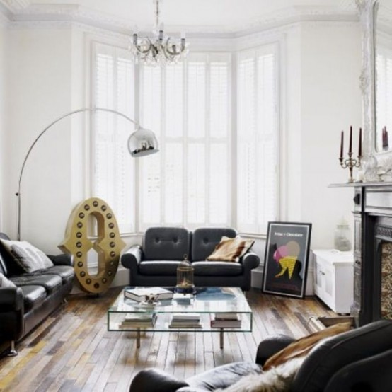 Typical British Interior With A Balanced Mix Of Styles