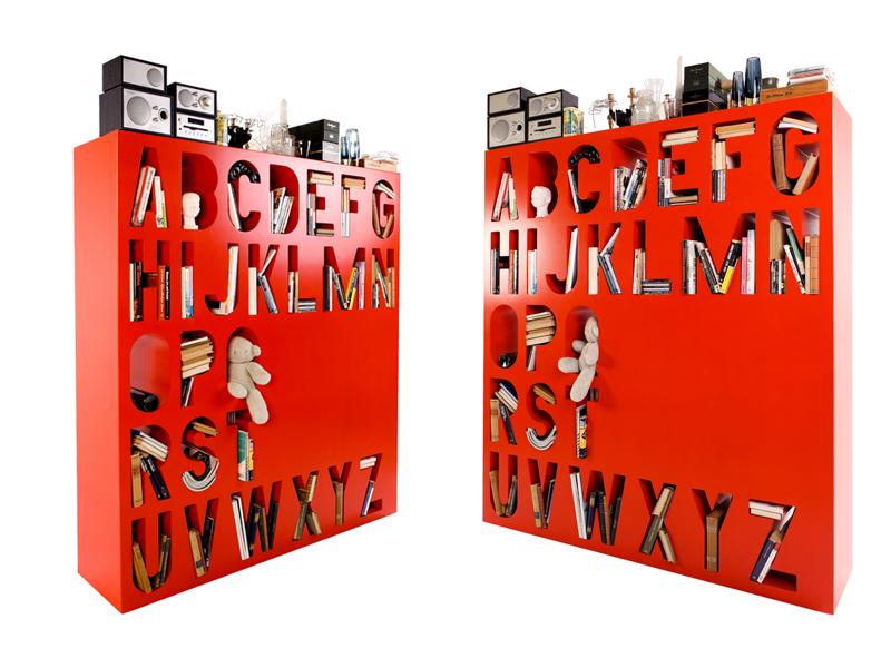 Typographic Bookcase
