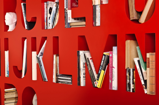 Typographic Bookcase