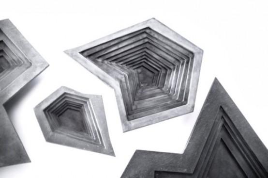 Ultra Minimalist Concrete Tableware By Vido Nori