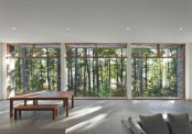 Ultra Minimalist Forest House With Spectacular Views