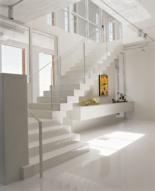 Ultra Minimalist White Interior