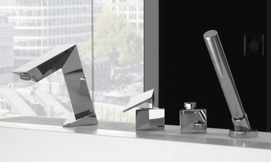 Ultra Modern Bathroom Faucet Inspired By Stealth Bomber