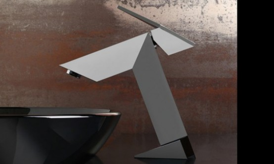 Ultra Modern Bathroom Faucet Inspired By Stealth Bomber – Stealth by GRAFF