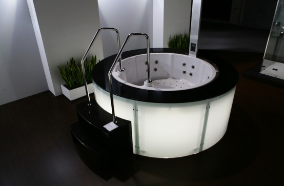 ultra modern spa bathtubs by hoesch digsdigs. Black Bedroom Furniture Sets. Home Design Ideas