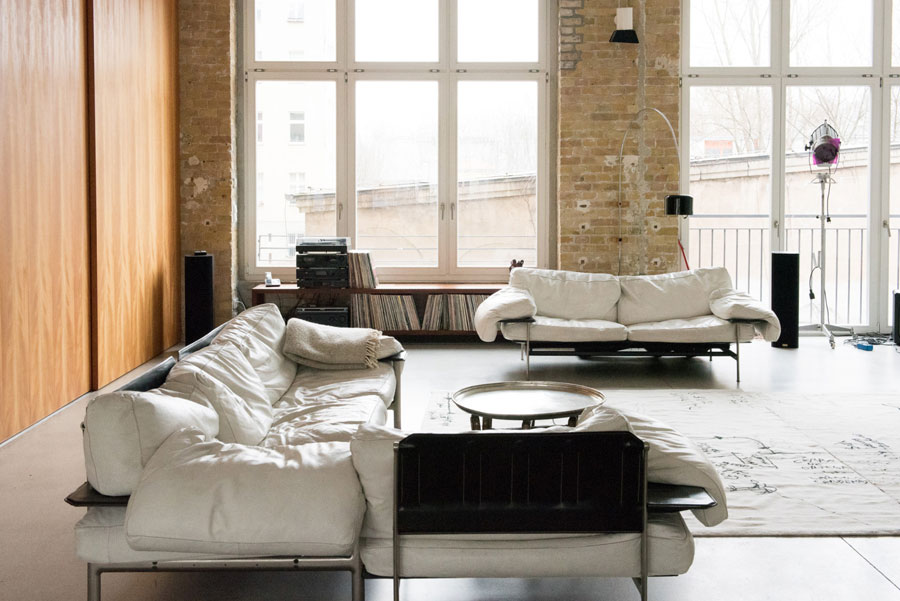 Uncluttered Artist's Loft Design In Neutral Colors