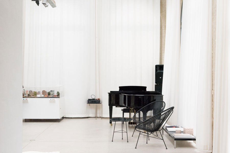 Picture Of uncluttered artists loft in neutral colors  4