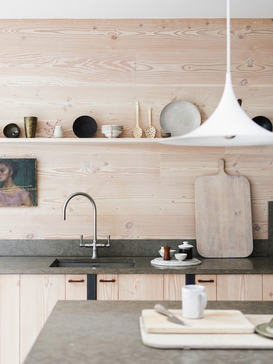 Uncluttered Scandinavian Home With Lots Of Wood In Decor