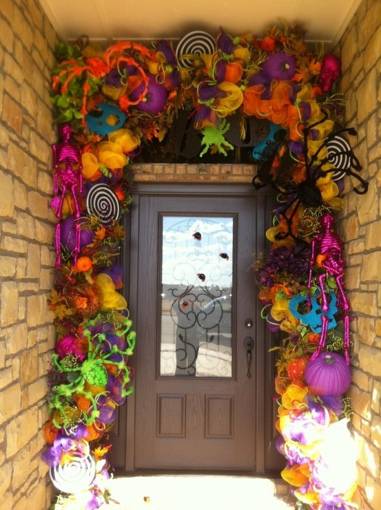 unexpected colorful halloween decor ideas - Halloween Decor