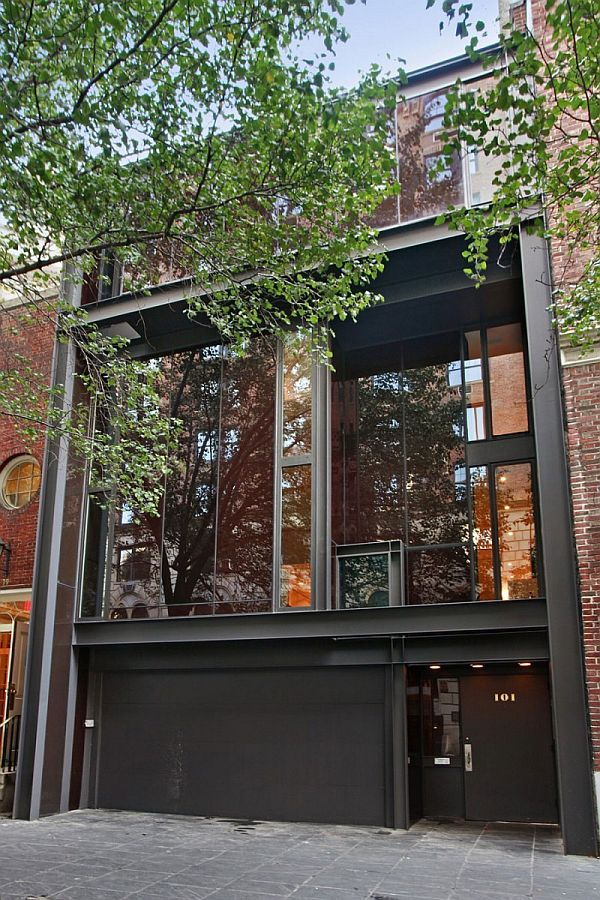 Unique 4 story house built in the 60s digsdigs for Nyc townhouse with garage
