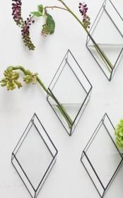 Unique Angular Wall Mounted Vase
